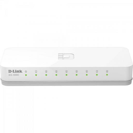 Switch FAST 8 Portas 100MBPS DES-1008C Branco D-LINK