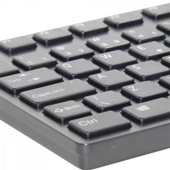 Teclado Multimidia USB ABNT2 MK-601BK SLIM Preto Fortrek