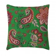 Capa Para Almofada Decorativa Belize Estampa Dália Verde