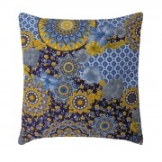 Capa Para Almofada Decorativa Belize Estampa Sunflower Azul