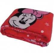 Cobertor Infantil Minnie Mouse Manta Fleece Vermelha Jolitex