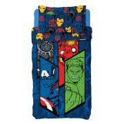 Colcha Bouti Infantil Avengers Vigadores 2 Peças Lepper