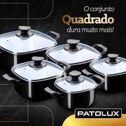 Conjunto De Panelas Caçarola Quadrada Preta 5 Peças Patolux