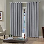 Cortina Blackout Grafite Pratika Lisa Slim 4,20 X 2,50 Bella Janela