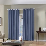 Cortina Blackout Indigo Pratika Lisa Slim 2,60 X 1,70 Bella Janela