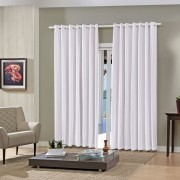Cortina Blackout Pratika Lisa Slim Branca 3,60 X 2,50 Bella Janela