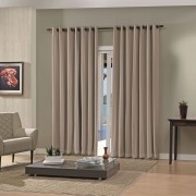 Cortina Blackout Pratika Lisa Slim Taupe 3,60 X 2,50 Bella Janela