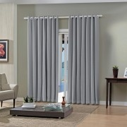 Cortina Blackout Pratika Lisa Slim Titanio 3,60 X 2,50 Bella Janela