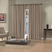 Cortina Blackout Taupe Pratika Lisa Slim 4,20 X 2,50 Bella Janela