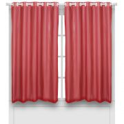 Cortina Em Voil Vermelha Com Forro Blackout 2,40 x 1,60 Bella Janela