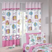 Cortina Infantil Princesa Power Com Forro Blackout 2,00 x 1,80 Santista