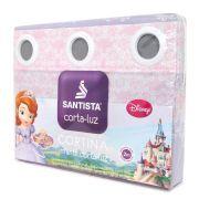 Cortina Infantil Princesa Sofia Com Forro Corta Luz 2,00 x 1,80 Santista