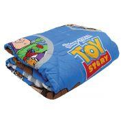 Edredom Infantil Toy Story Azul Dupla Face Menino Lepper