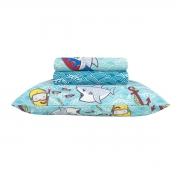 Jogo De Cama Infantil Menino Duplo Shark Solteiro Happy Day Sultan