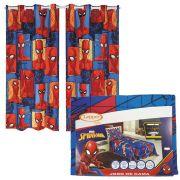 Kit Infantil Homem Aranha Spider Man Jogo Cama + Cortina Lepper