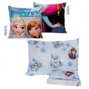 Kit Infantil Menina Manta Almofada E Jogo De Cama Frozen Azul