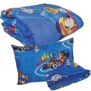Kit Infantil Mickey Mouse Menino Edredom + Jogo De Cama Lepper