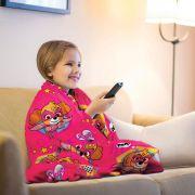 Manta Infantil Patrulha Canina Rosa Super Soft Fleece Lepper
