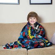 Manta Infantil Spider Man Homem Aranha Super Soft Fleece Lepper