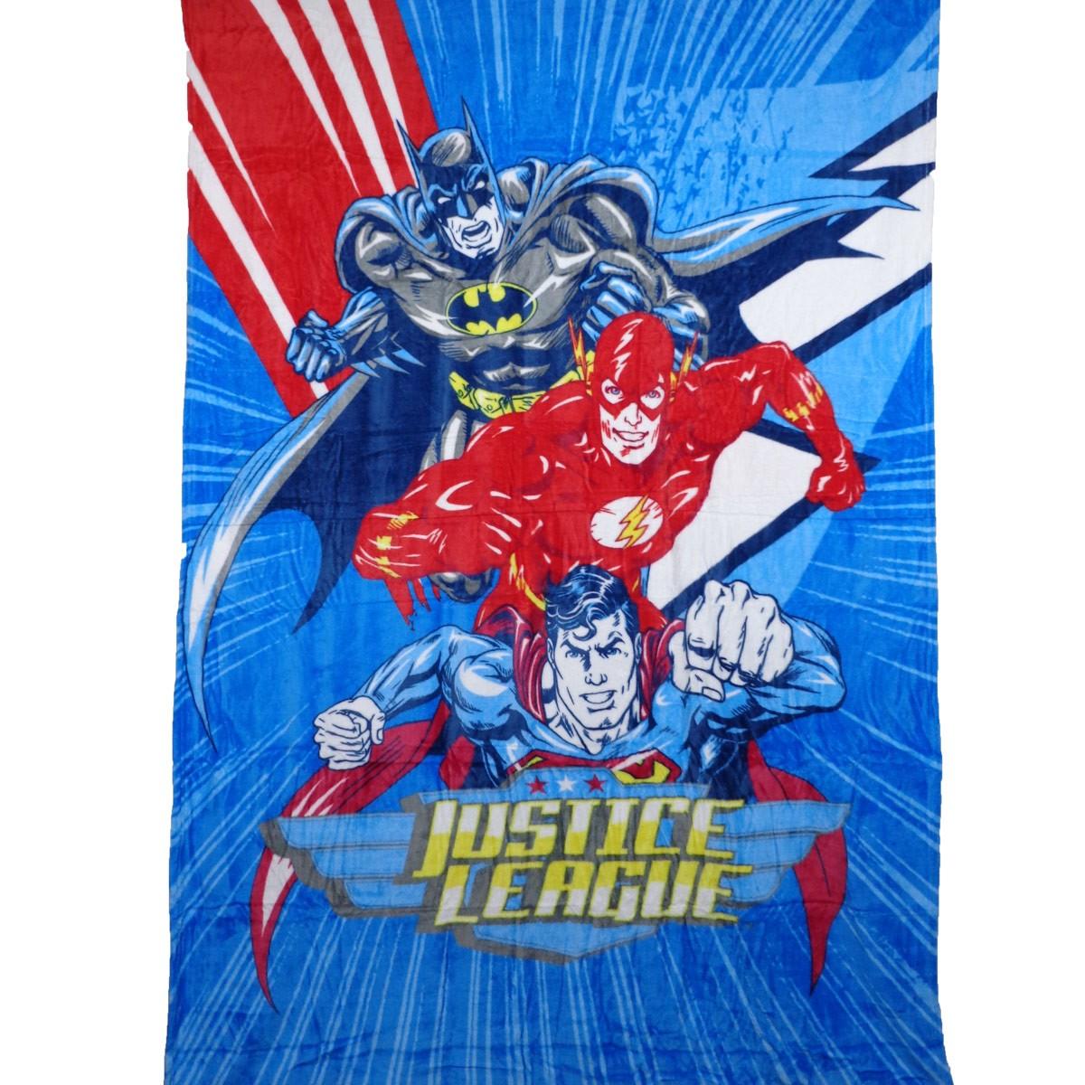 Cobertor Infantil Manta Fleece Herois Liga Da Justiça Lepper
