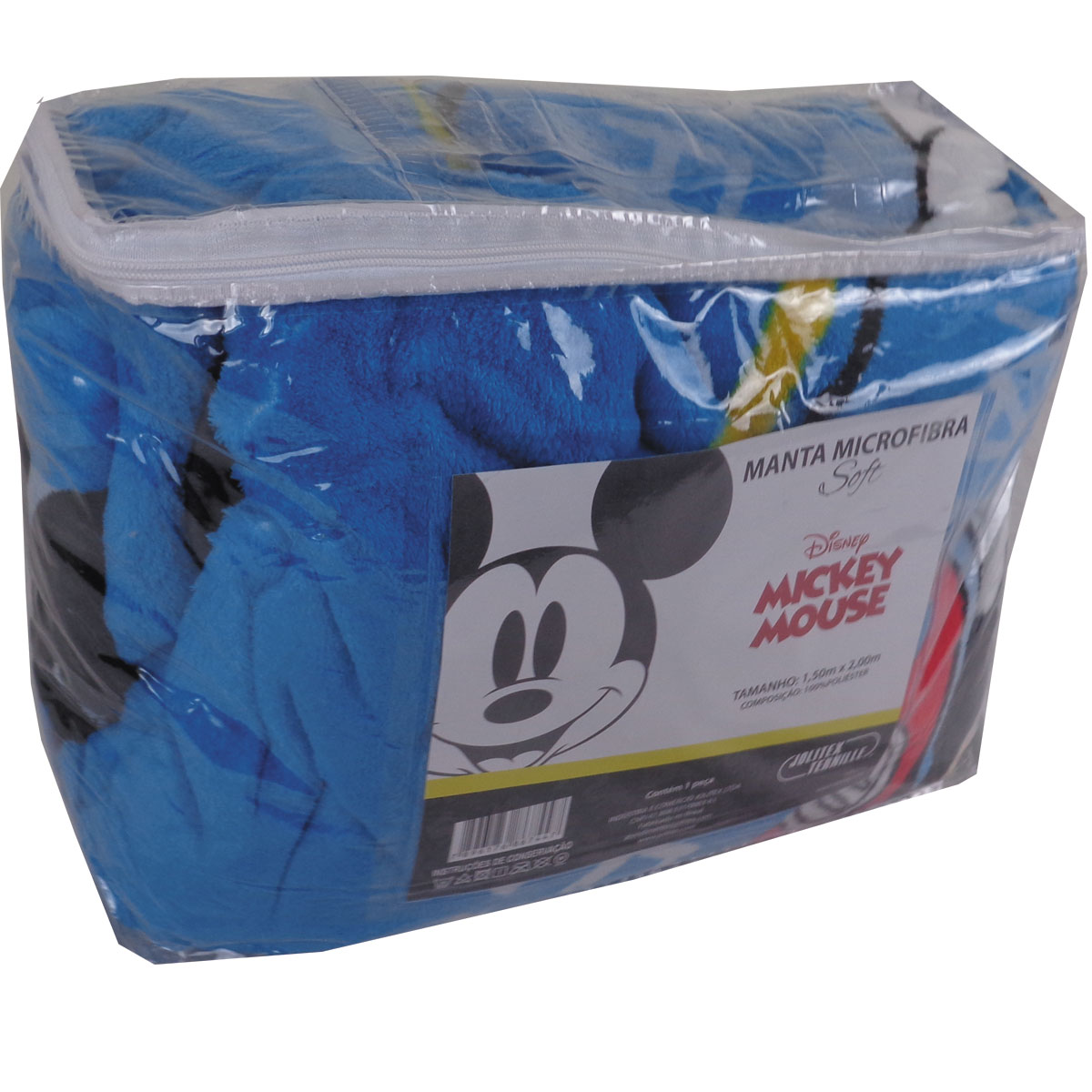 Cobertor Infantil Mickey Mouse Manta Disney Licenciado Fleece Jolitex