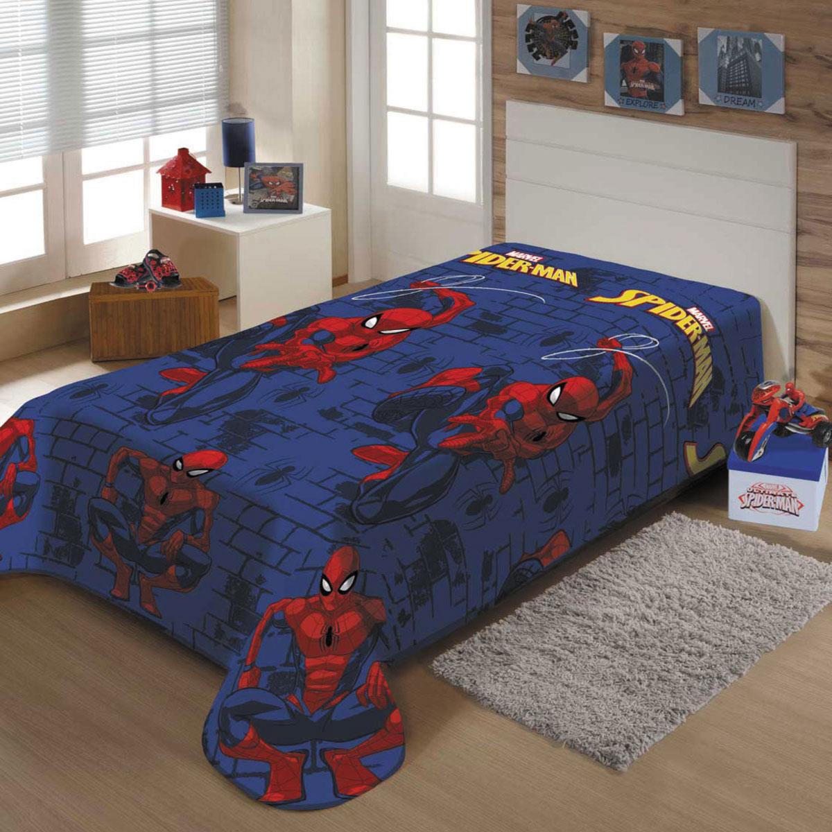 Cobertor Infantil Spider Man Teia Manta Fleece Homem Aranha Jolitex