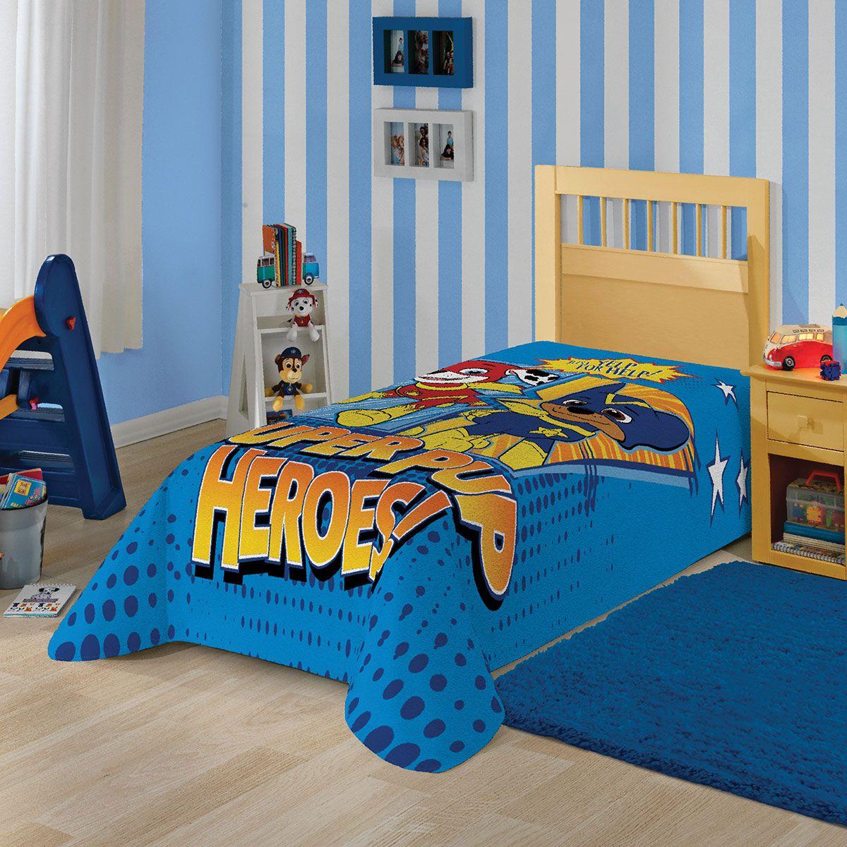 Cobertor Manta Fleece Patrulha Canina Azul Infantil Lepper