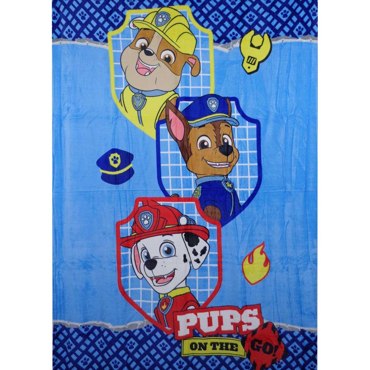 Cobertor Manta Fleece Patrulha Canina Menino Azul Infantil Lepper