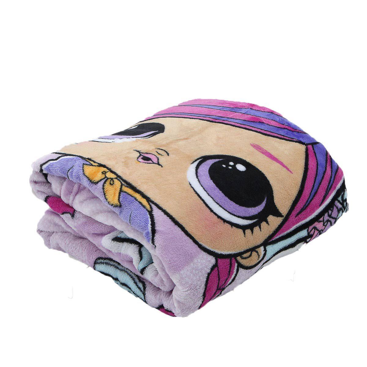 Cobertor Manta Lilás Fleece Lol Surprise Infantil Lepper