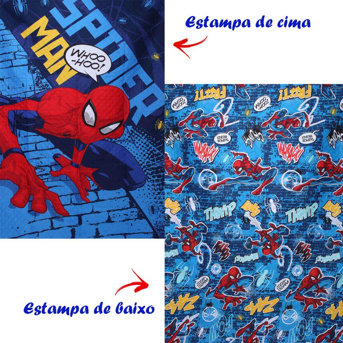 Colcha Bouti Homem Aranha Infantil Spider Man 2 Peças Lepper