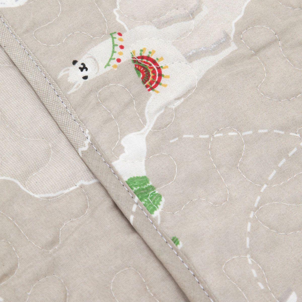 Colcha Boutis + Porta Travesseiro Infantil Safari Maps Santista