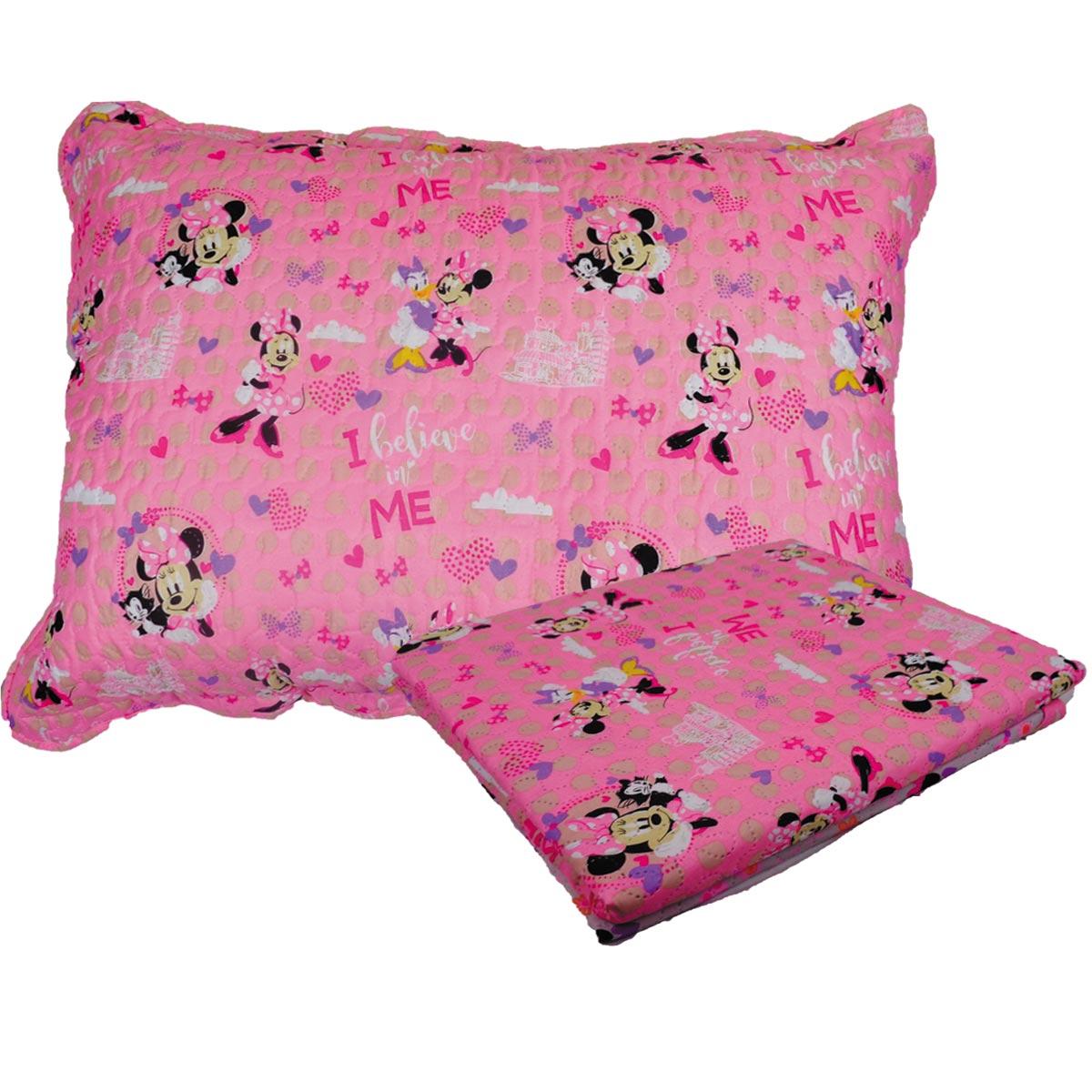 Colcha Infantil Minnie Mouse Menina Solteiro Ultrasonic Jolitex
