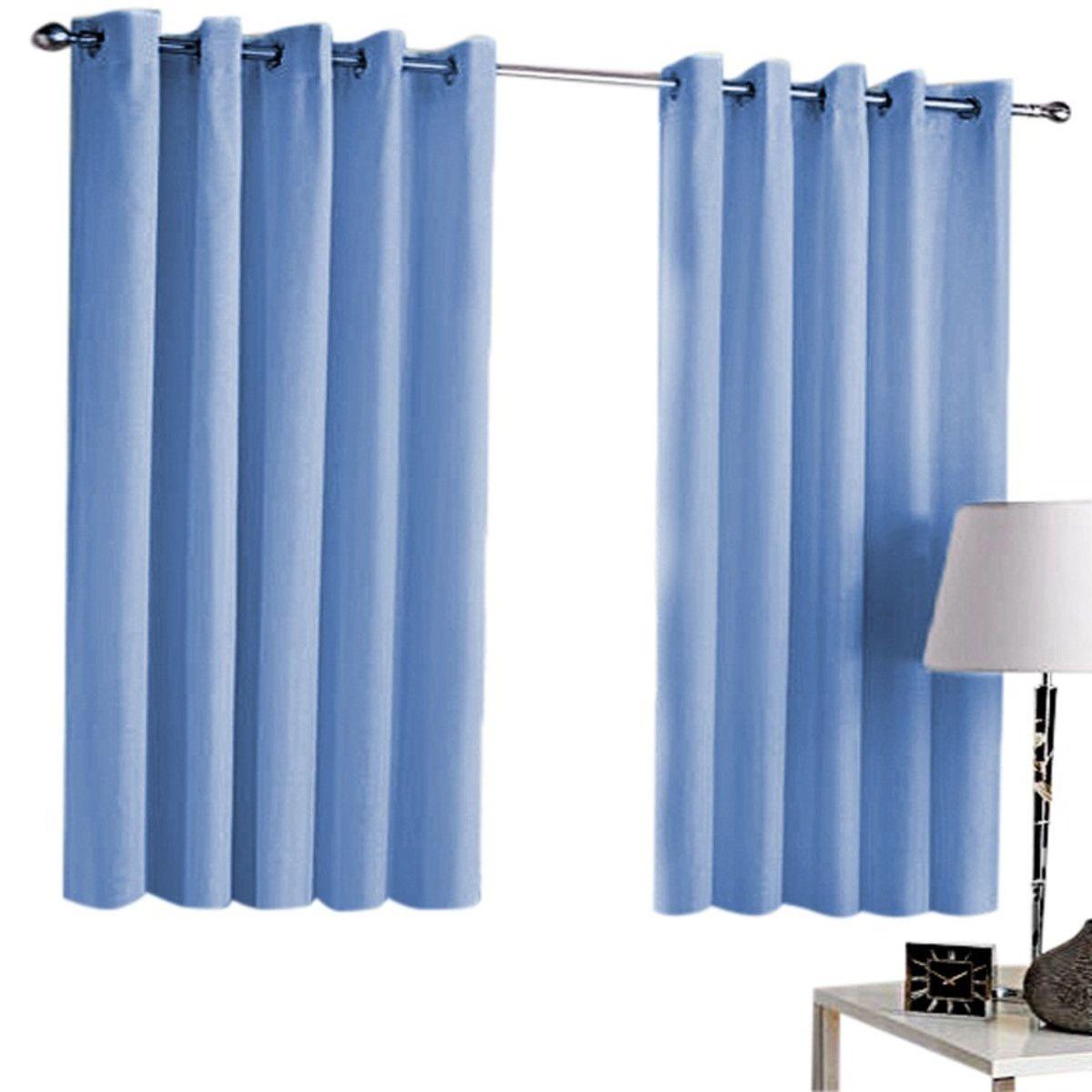 Cortina Blackout 100% Uni Rubi Azul 2,60 x 1,70 Bella Janela