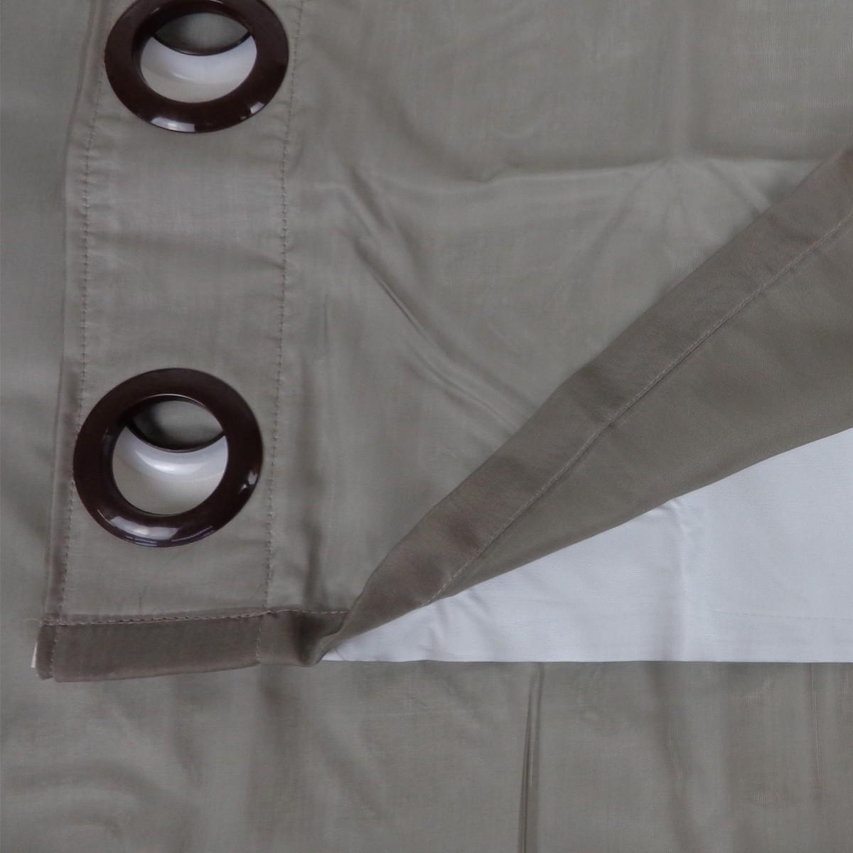 Cortina Blackout Taupe Pratika Lisa Slim 2,60 X 1,70 Bella Janela
