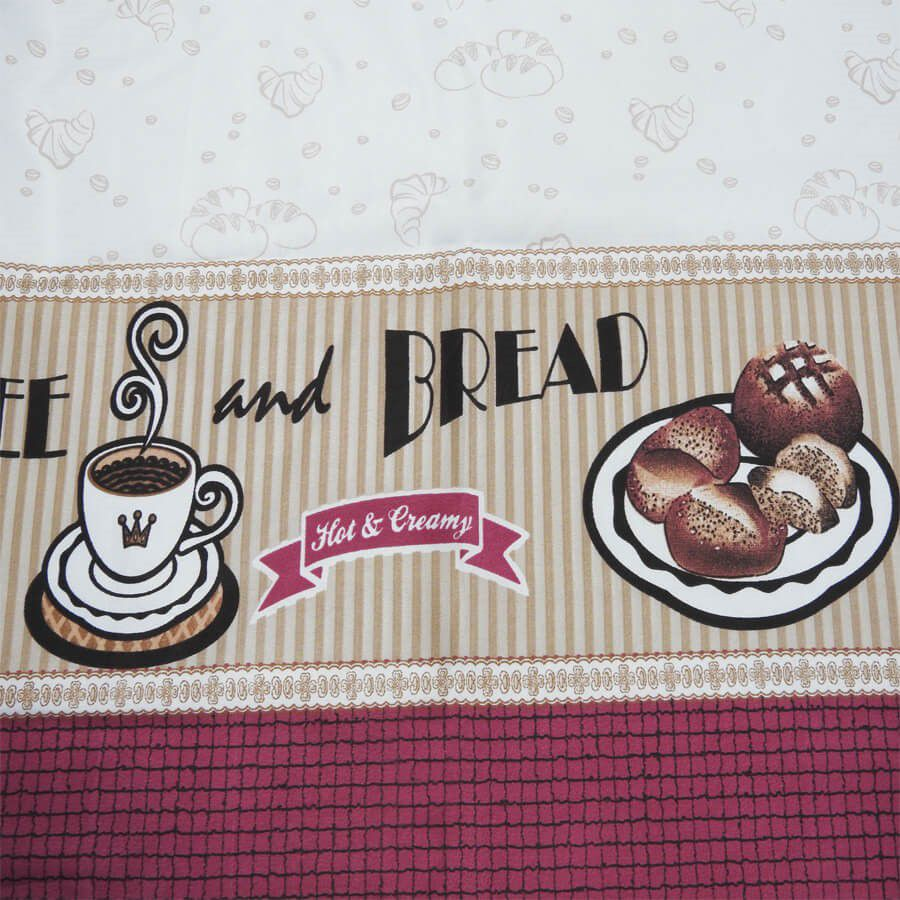Cortina De Cozinha Allegra Bread 2,00 x 1,40 Bella Janela