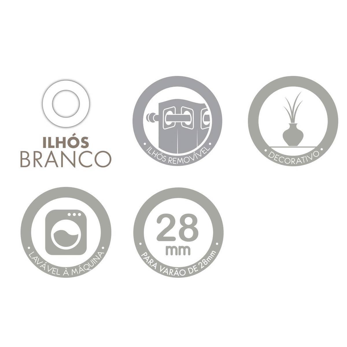 Cortina De Janela Com Forro Tecido 2,00 x 1,80 Barcelona Cinza Santista