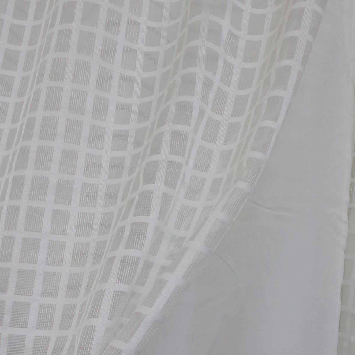 Cortina Duplex 4.20m x 2.50m Vintage / Xadrez Marfim Bella Janela