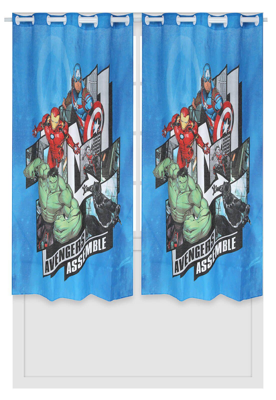 Cortina Infantil Avengers Vingadores 2,00 x 1,80 Lepper