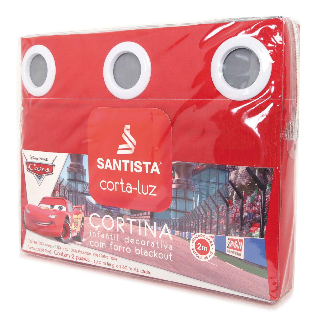 Cortina Infantil Carros Tools Com Forro Blackout 2,00 x 1,80 Santista