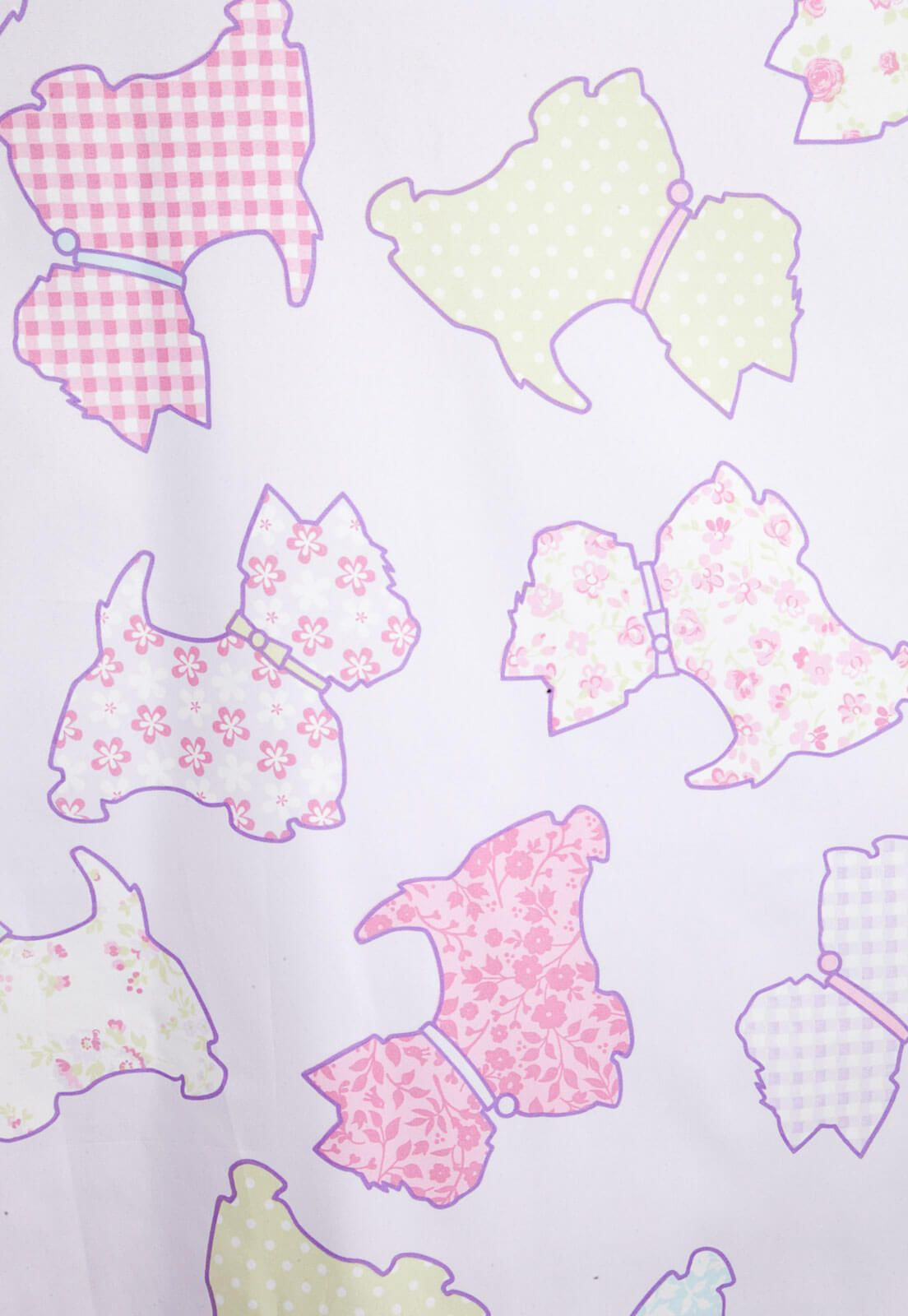 Cortina Infantil Lilás Colorê Pet 2,00 x 1,80 Bella Janela