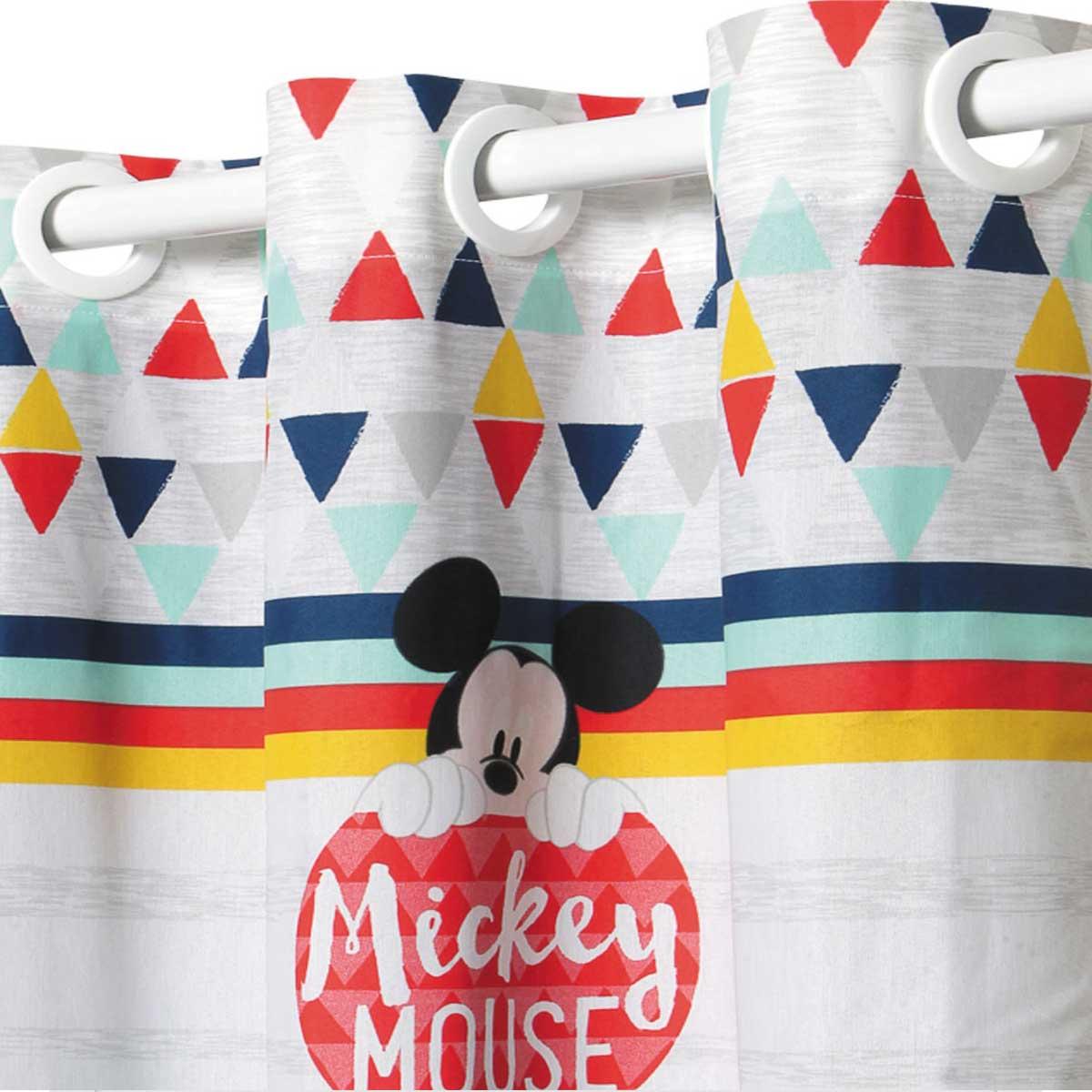 Cortina Infantil Com Forro Blackout Mickey Geo 2,00 x 1,80 Santista