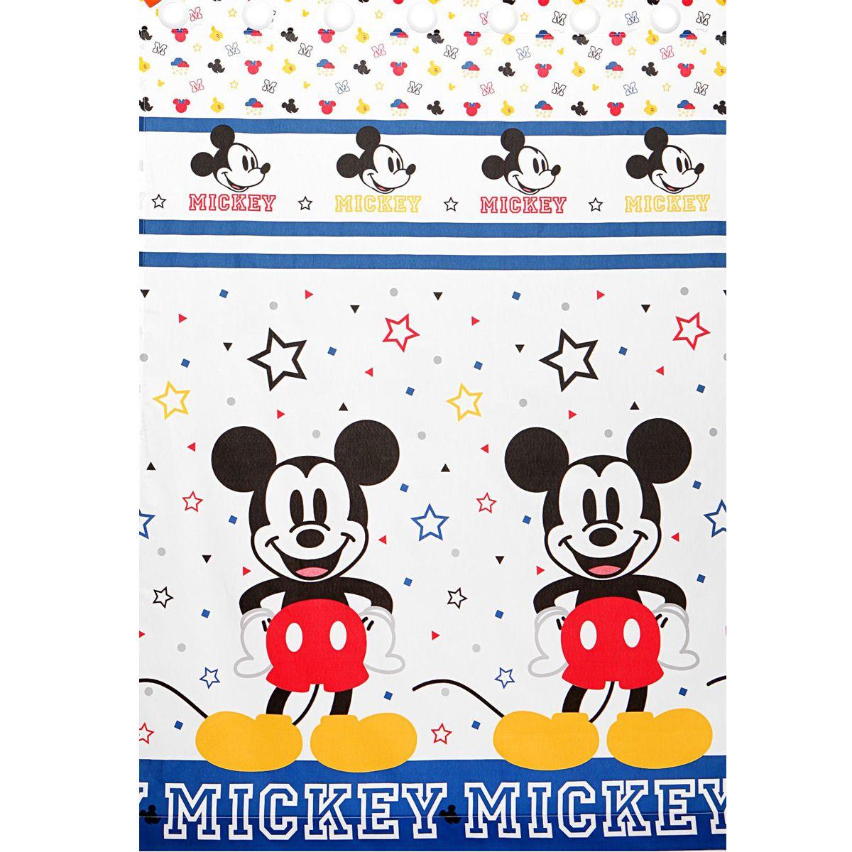 Cortina Infantil Com Forro Blackout Mickey Play 2,00 x 1,80 Santista