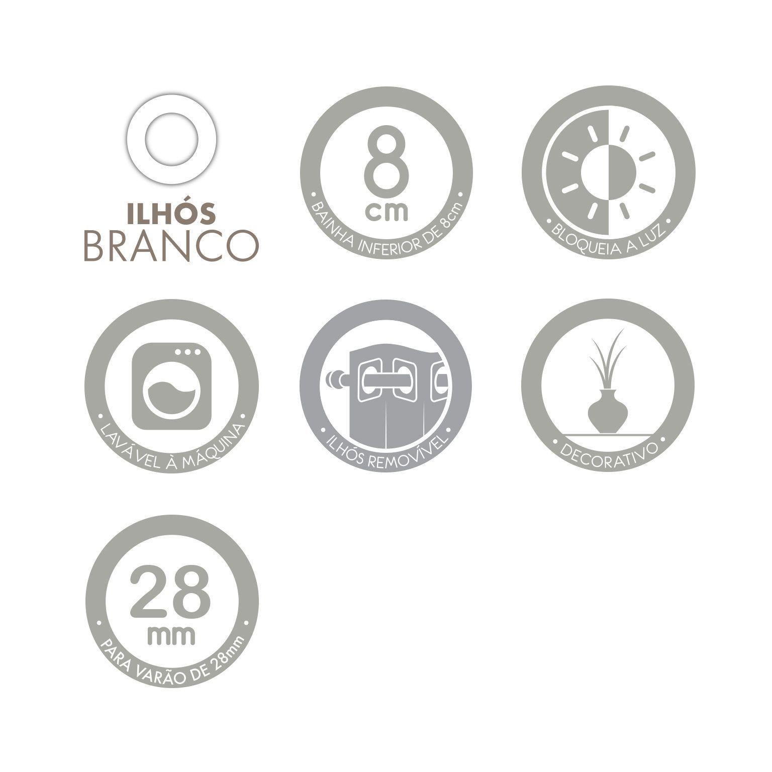 Cortina Infantil Estampada Magic Unicórnio 2,00 x 1,80 Santista
