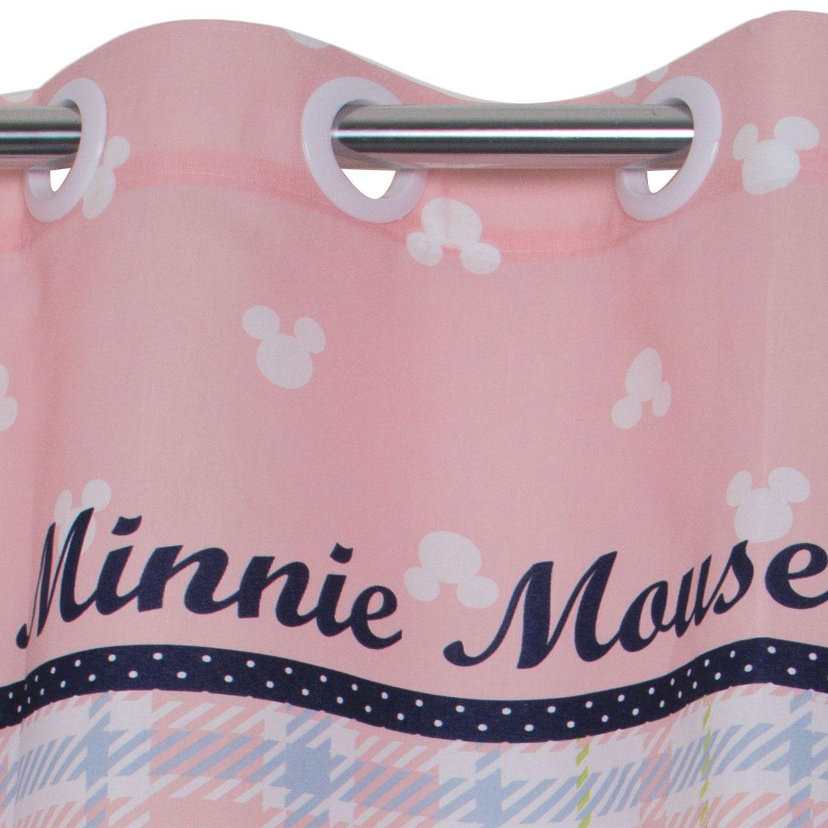 Cortina Infantil Minnie Contry Rosa 2,00 x 1,80 Santista