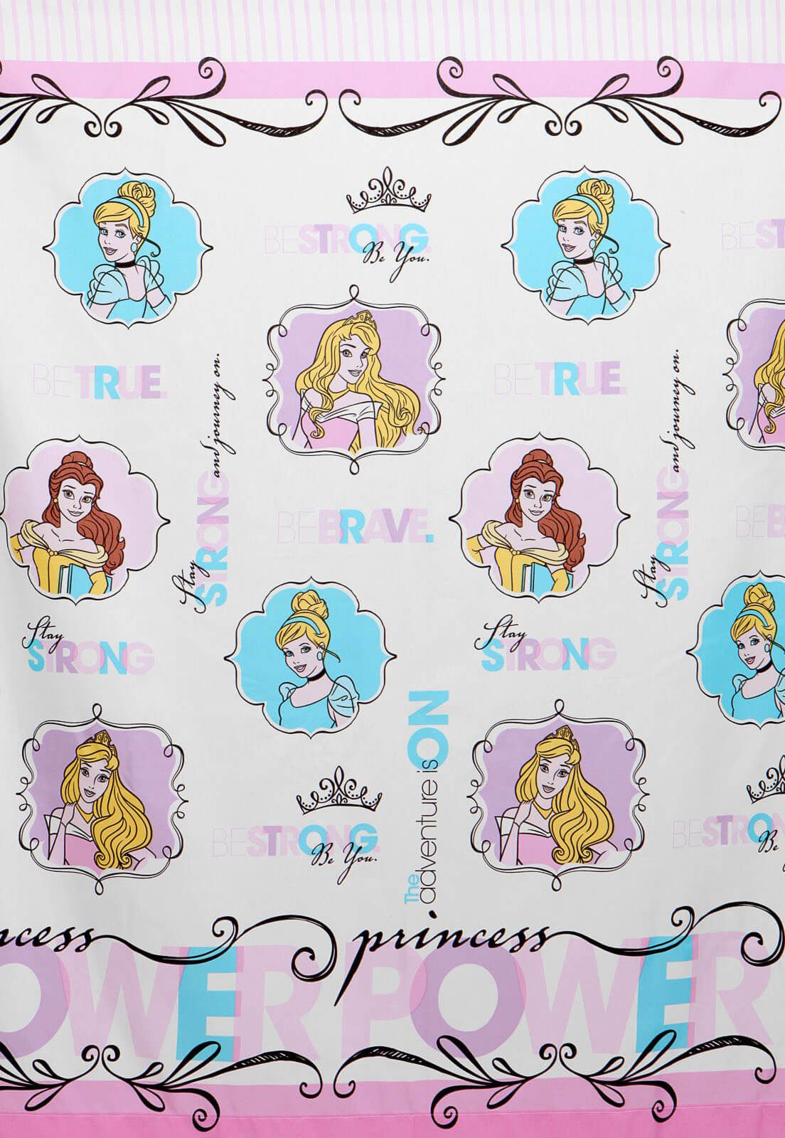 Cortina Infantil Princesa Power 2,00 x 1,80 Santista