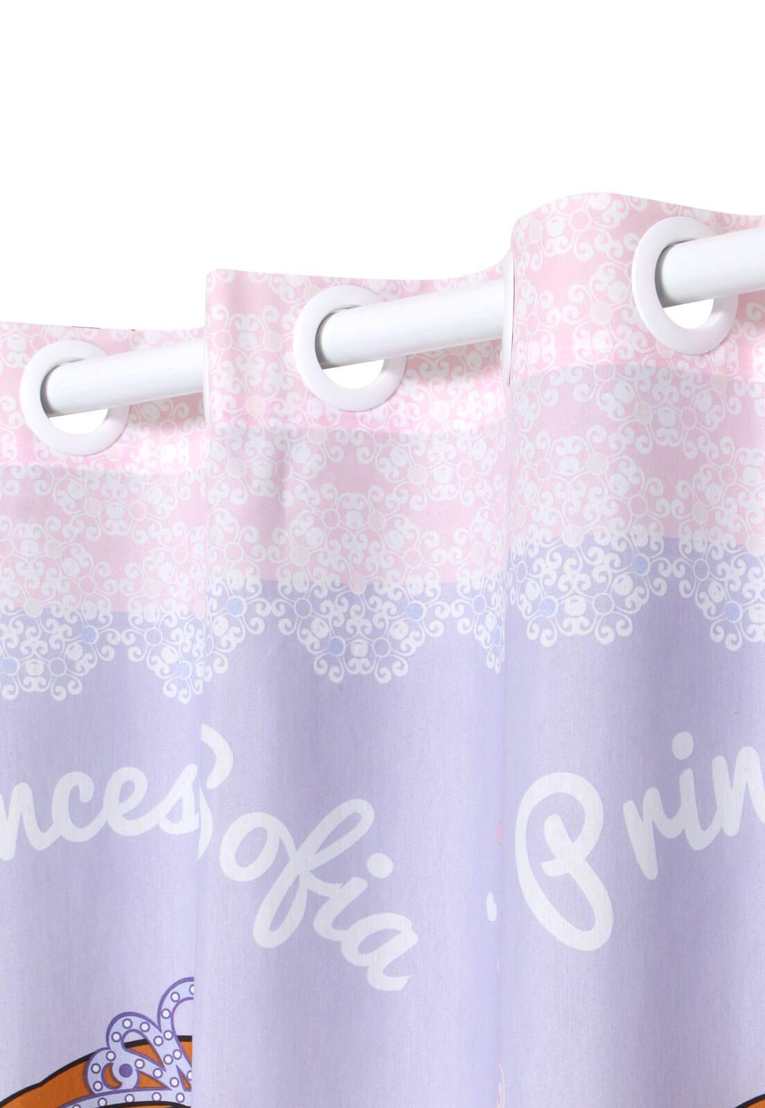 Cortina Infantil Princesa Sofia Sweet Com Forro Blackout 2,00 x 1,80 Santista
