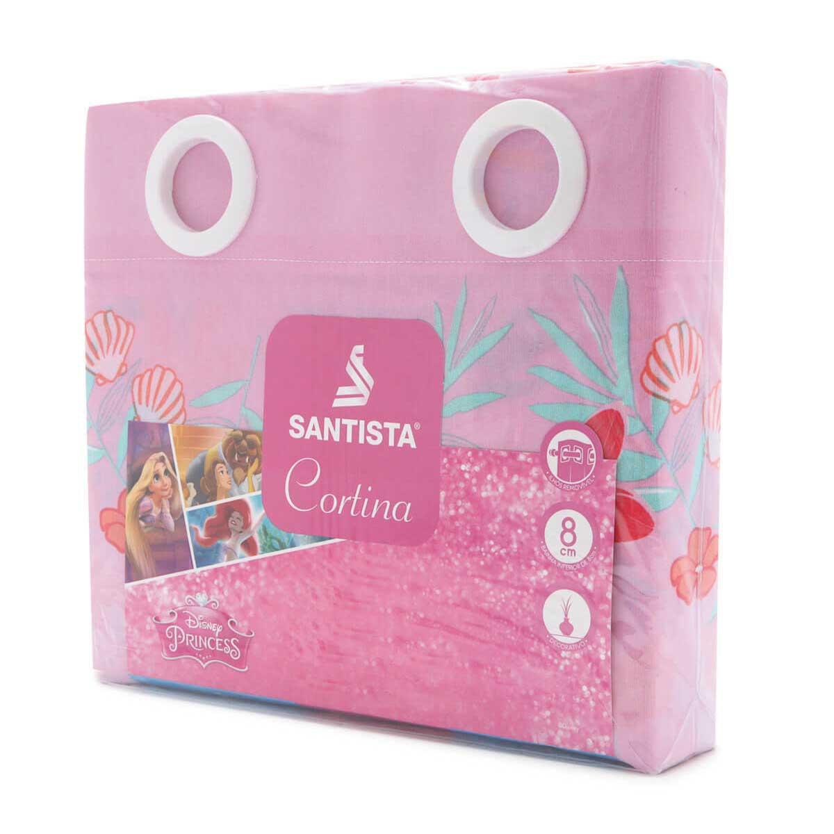 Cortina Infantil Rosa Ariel A Pequena Sereia 2,00 x 1,80 Santista