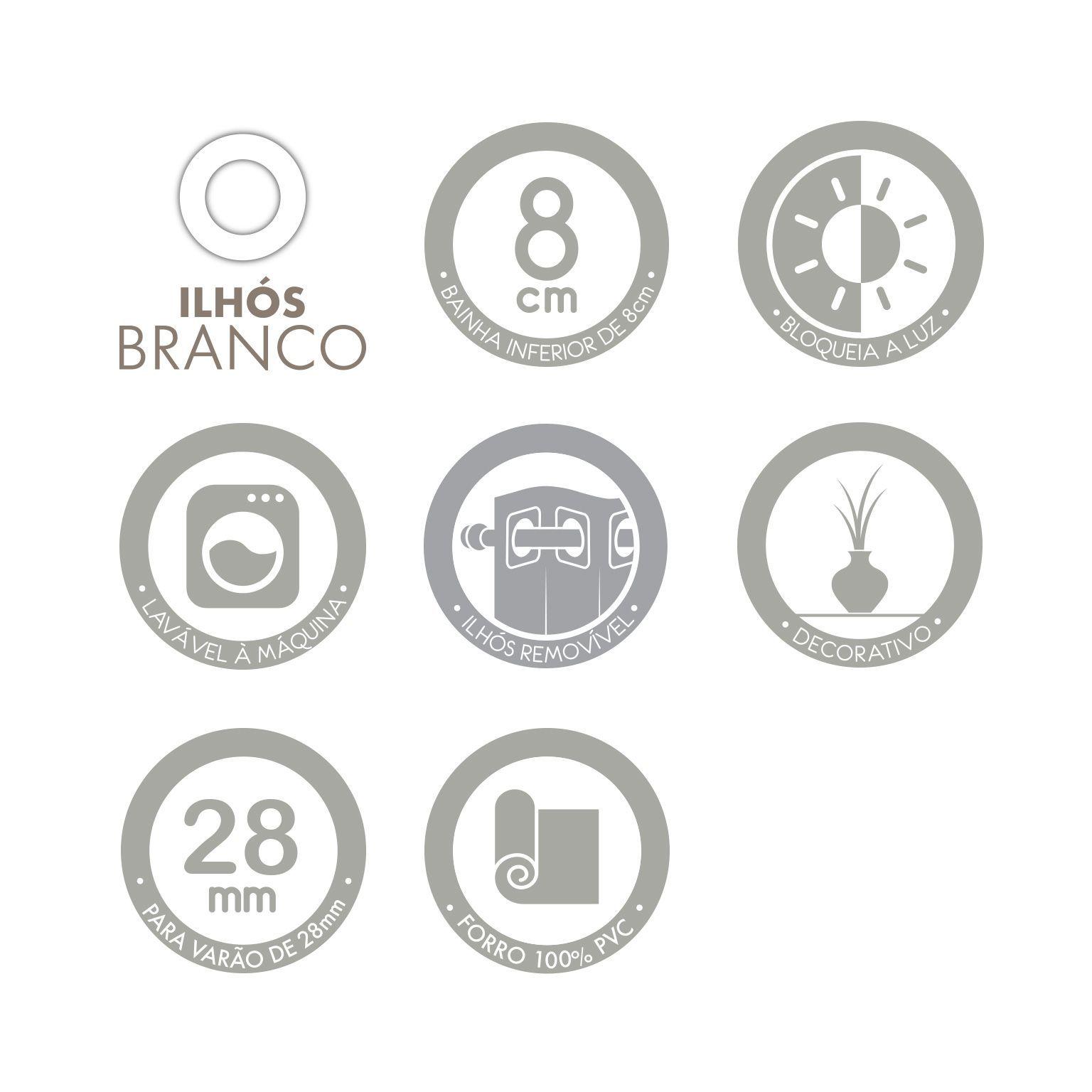 Cortina Infantil Safari Maps com forro Corta Luz 2,00 x 1,80 Santista