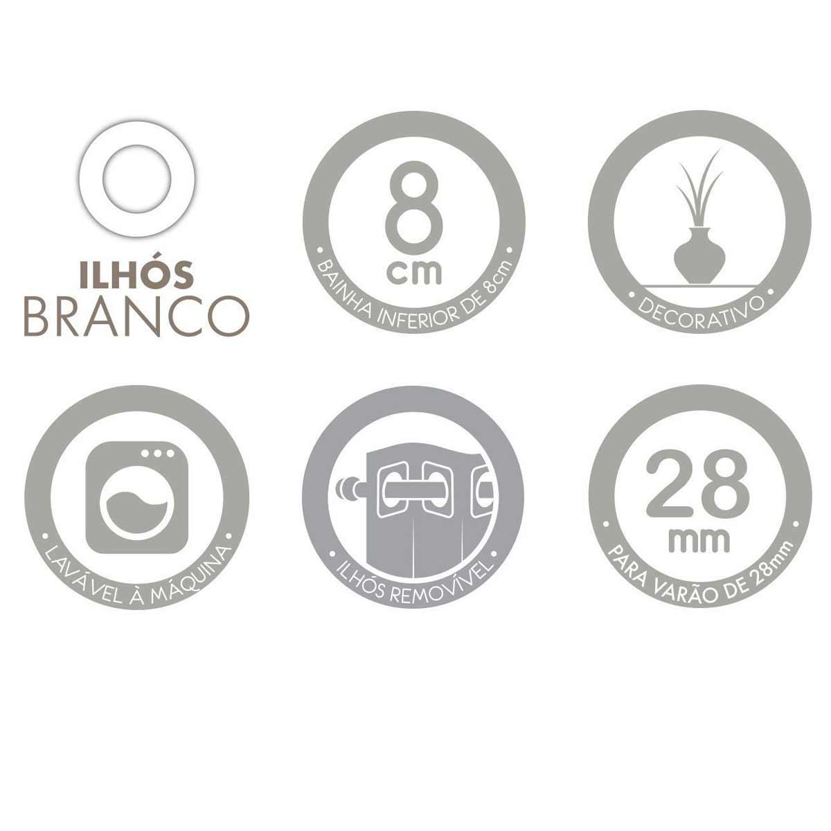 Cortina Nova York Basic Para Porta 2,00 X 2,30 Linho Santista