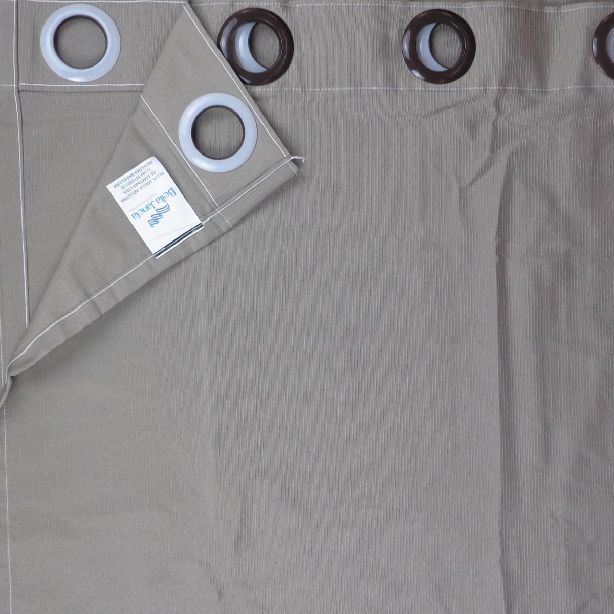 Cortina Para Sala Rústica Pantex Areia 2,60 x 1,70 Bella Janela